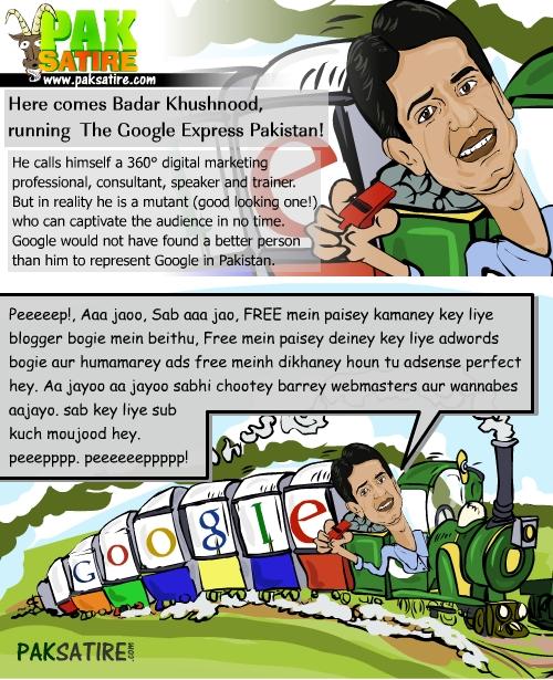 Here comes Badar Khushnood, running Google Express Pakistan