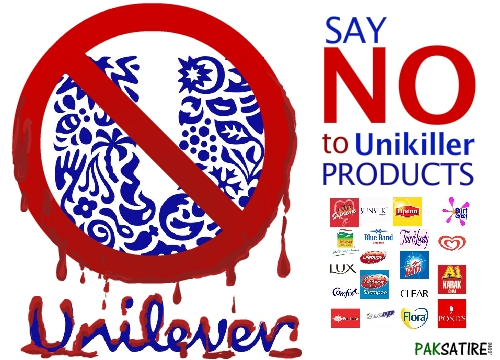 Say No to Unilever Products