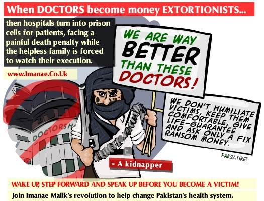 When DOCTORS become money EXTORTIONISTS…