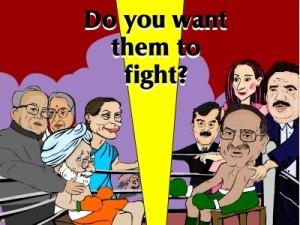 Asif Ali Zardari V/s Man mohan singh Boxing Match
