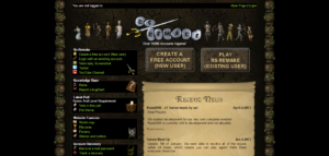 Image of another popular private server of RuneScape. http://rs-remake.com